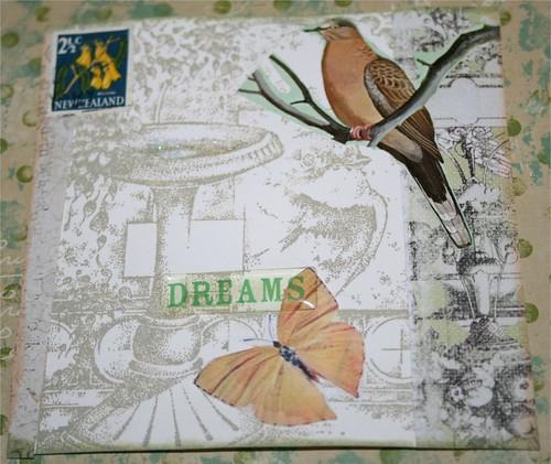 """Garden Dreams 4"""" x 4"""" Collage card"""