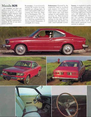 1974 Mazda 808 brochure - page 3