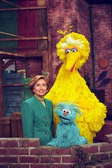 Photograph of First Lady Hillary Rodham Clinto...