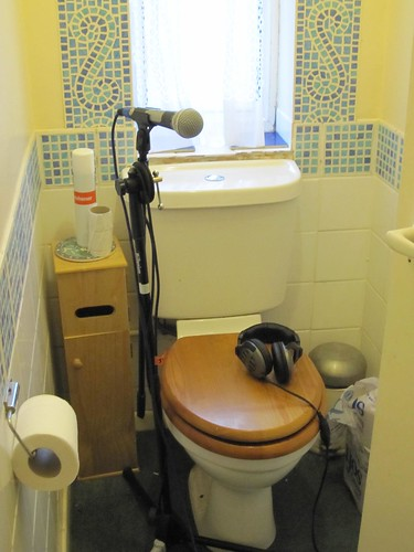 Recording in the toilet