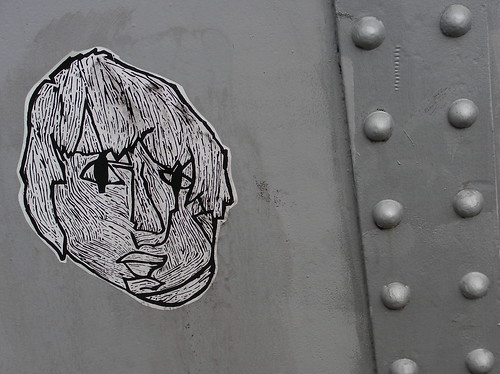 Graffiti at railway bridge in Grangetown, Cardiff.