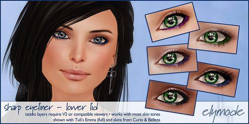 *elymode* makeup - sharp eyeliner - lower