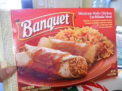 Banquet Mexican Style Chicken Enchillada Meal