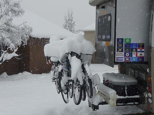 Bike seats in Provo Snow 12-21-10