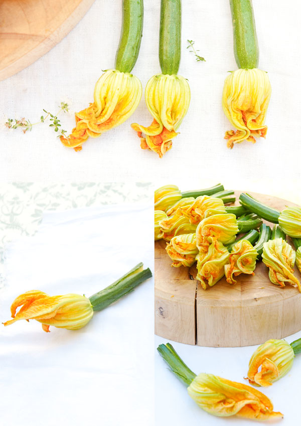 courgette flower_chopping board