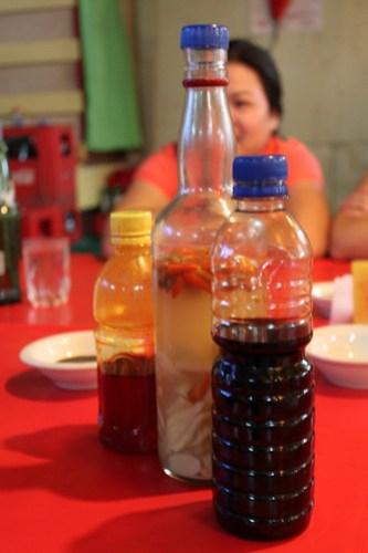 Condiments at Aida's (Manokan Country)