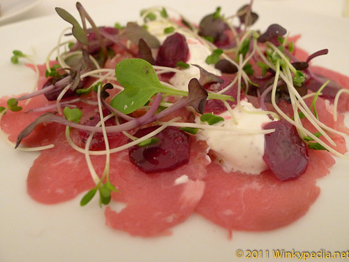 rose veal carpaccio