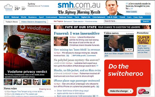 contextual banners next to a Vodafone article