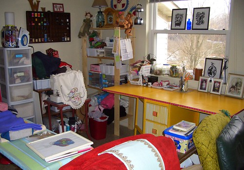 Brighter sewing station.