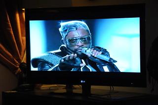 Superbowl Ad on LG widescreen TV, Black Eyed P...