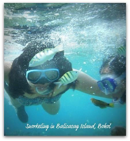 Snorkeling in Balicasag Island, Bohol