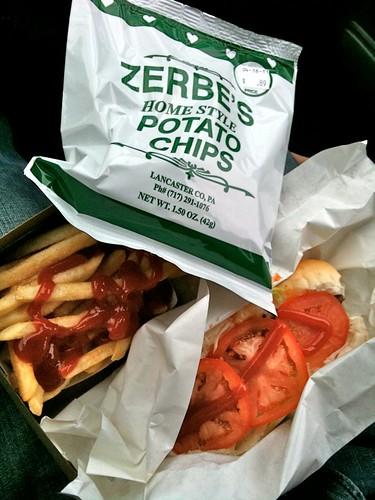 Zerbe's Potato Chips and Cheeseburger Sub
