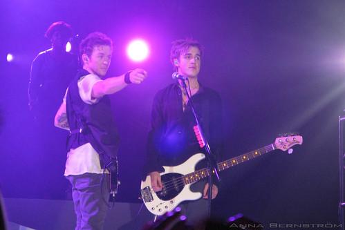Danny Jones and Tom Fletcher of McFly, photo © Anna Bernström