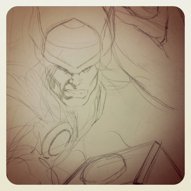 ... And #Thor- previous sketch - #comics #marvel