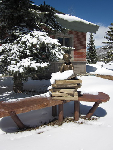 Sculpture at the South Branch of the Summit County Public Library