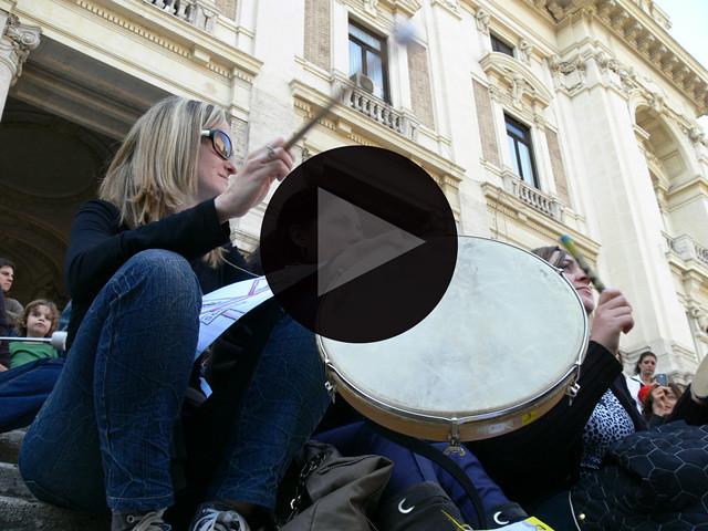 protesta ministero della pubblica istruzione roma 20 marzo 2011