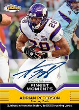 2011 Topps Finest Football Adrian Peterson Autograph Moments Card