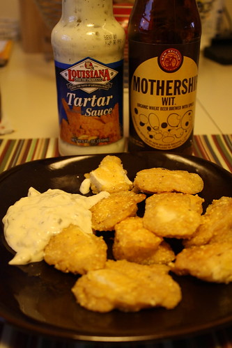 tartar sauce, beer battered tofu, New Belgium Mothership Wit