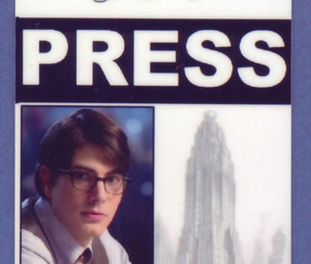 Smallville Superman Daily Planet Press Pass Kent Clark Id Card