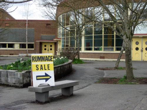 Middle school rummage sale