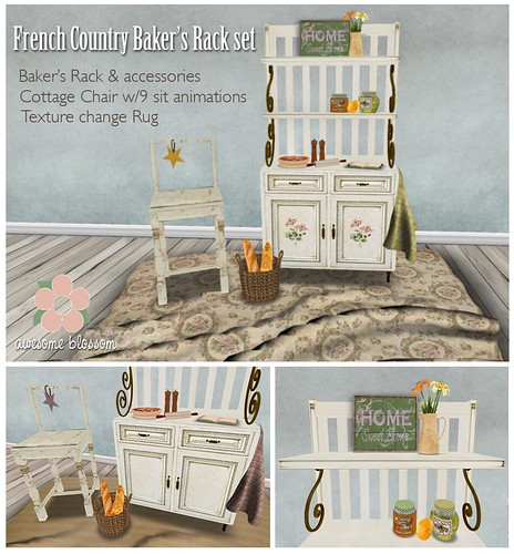 French Country Baker's Rack set for SUYS