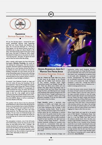 GoGol Bordello / AU Magazine 72 by Ian Keegan