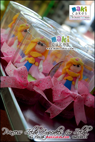 Princess Zelda Cupcakes for Zelda - Maki Cakes