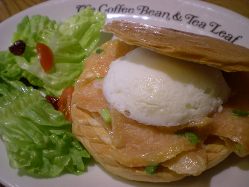 Coffee Bean, salmon & egg muffin