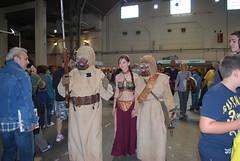 Princesa Leia y moradores   de las arenas