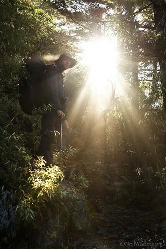 Hiker in good light