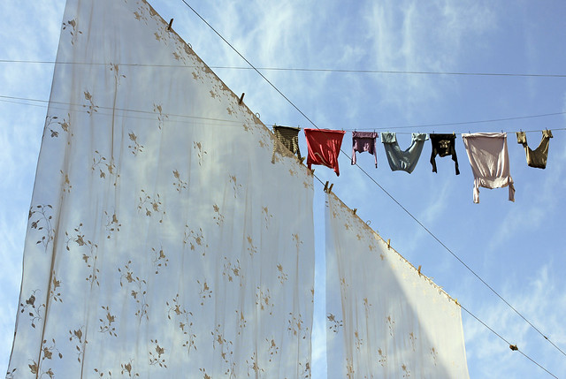 laundry in the spring sun