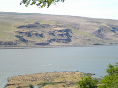 Columbia River Gorge With Desert