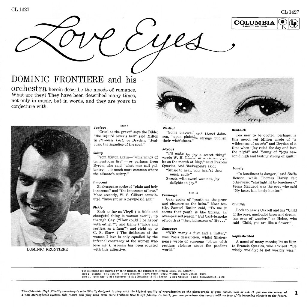 Dominic Frontiere - Love Eyes