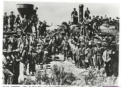 Photograph of Golden Spike Ceremony at Promont...