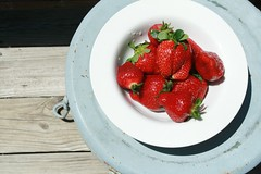 Strawberries and Chair