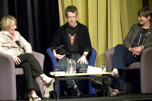 Mary Hooper, Jon Mayhew and Ellen Renner at Sefton Super Reads