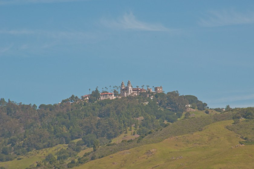 Hearst Castle from the coastal highway