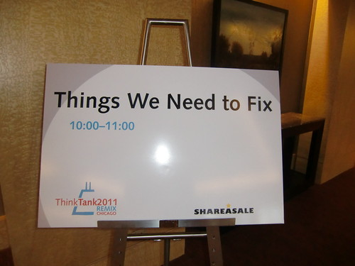 ShareASale ThinkTank 2011 Things We Need to Fix