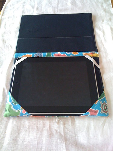 iPad case inside/flat