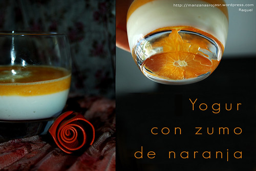 Yogurt con zumo de naranja