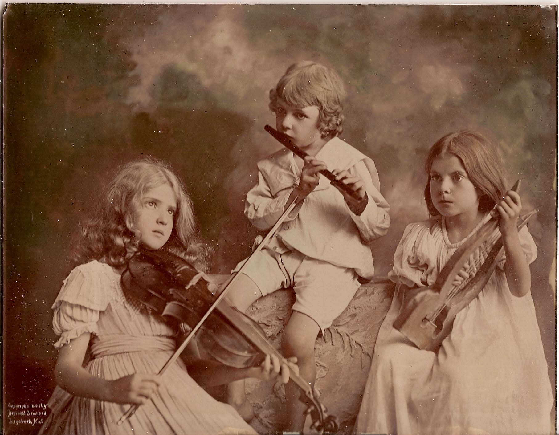 Little Musicians, 1899, via Celeste Tumulte
