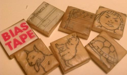 More teeny encaustic tiles