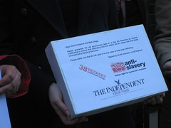 Human Trafficking petition hand in