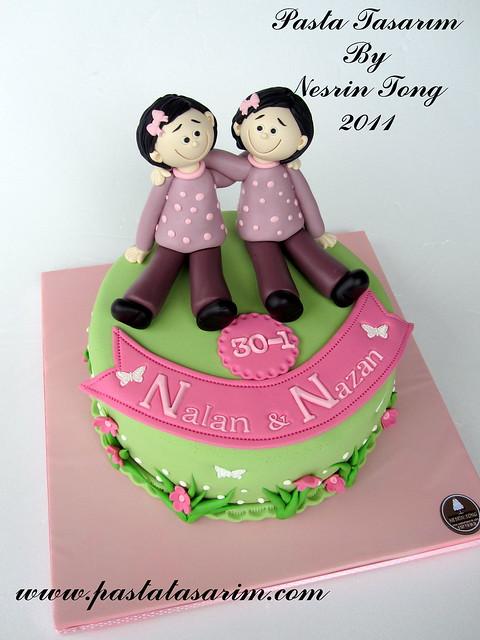 TWINS SISTERS BIRTHDAY CAKE