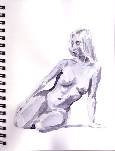 female nude kneeling