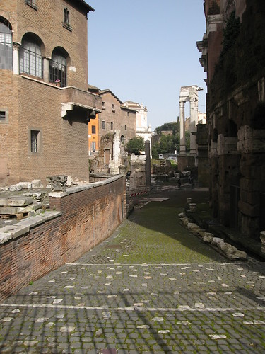 Because ruins become shortcuts in Rome.