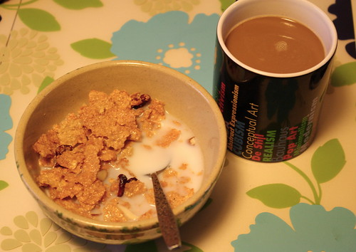 great grains cereal, coffee