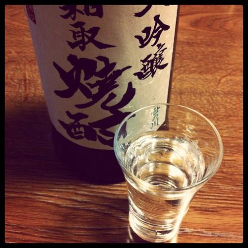 福島の笹の川酒造から届いた粕取焼酎。日本酒みたいな香りだけど確かに焼酎だ~。