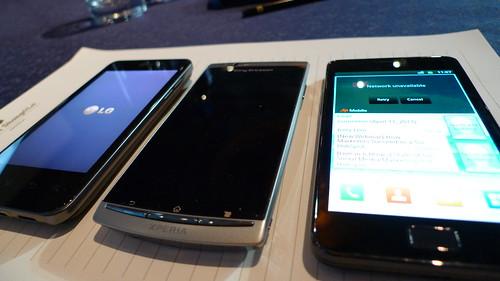 LG, Xperia, Samsung