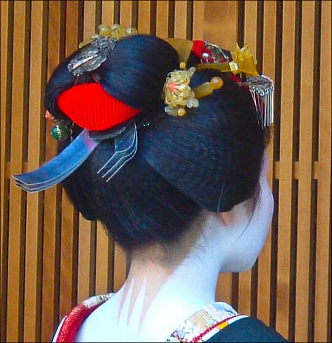 Maiko Takachisa en su omisedashi